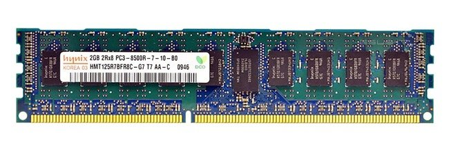 Memory RAM 1x 2GB Hynix ECC REGISTERED DDR3  1066MHz PC3-8500 RDIMM | HMT125R7BFR8C-G7