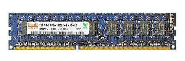 Memory RAM 1x 2GB Hynix ECC UNBUFFERED DDR3  1333MHz PC3-10600 UDIMM | HMT125U7BFR8C-H9