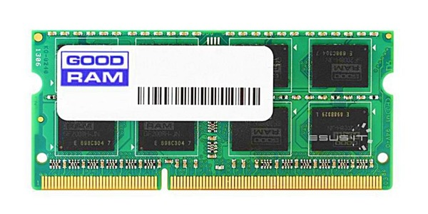 Memory RAM 1x 4GB GoodRAM SO-DIMM DDR3 1066MHz PC3-12800 | W-AMM10664G