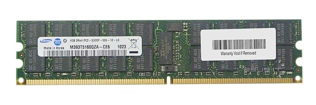 Memory RAM 1x 4GB Samsung ECC REGISTERED DDR2  667MHz PC2-5300 RDIMM | M393T5160QZA-CE6