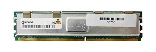 Memory RAM 1x 8GB QIMONDA ECC FULLY BUFFERED DDR2 667MHz PC2-5300 FBDIMM | HYS72T1G523EFD-3S-A